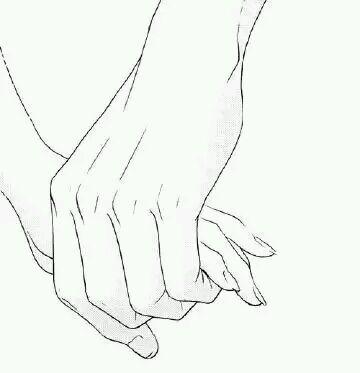 情侣牵手背影简笔画