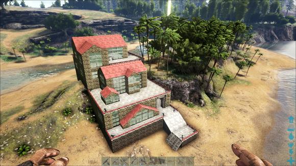 方舟建筑--模仿流水别墅图片