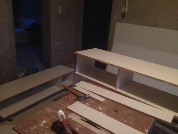 电视柜伸缩得造型已定下图片