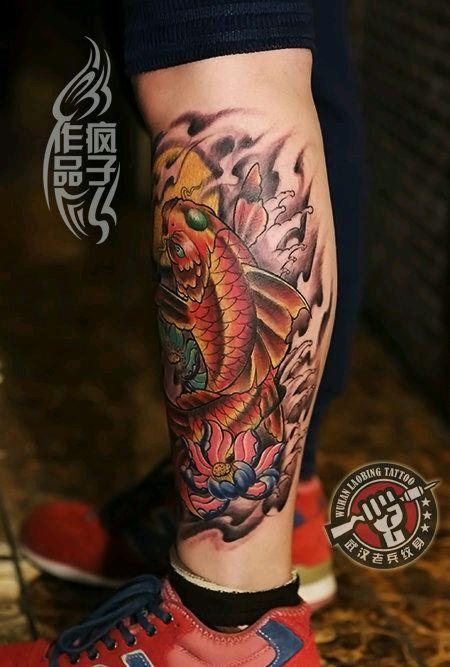 纹身黑鲤鱼有什么讲究_纹身黑鲤鱼有什么讲究分享展示图片