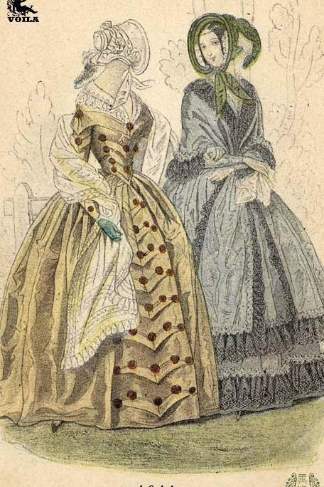19世纪欧洲服饰图片