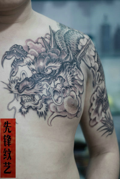 郑州纹身,龙纹身,胳膊纹身,先锋纹艺图片