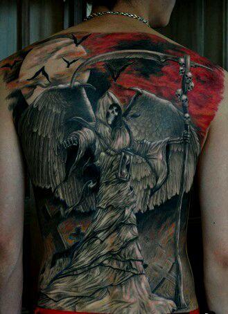 纹身图案 带翅膀骷髅头纹身手稿 > 欧美纹身图案   欧美纹身图案图片