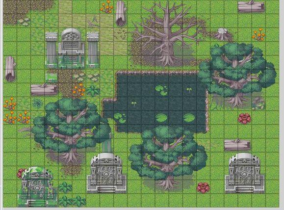 我自己用rpgxp自带地图素材造出来的地图