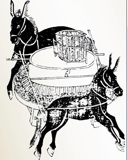 漕帮俘获盐帮驮货的毛驴,无法处理,就宰杀掉煮肉吃.图片