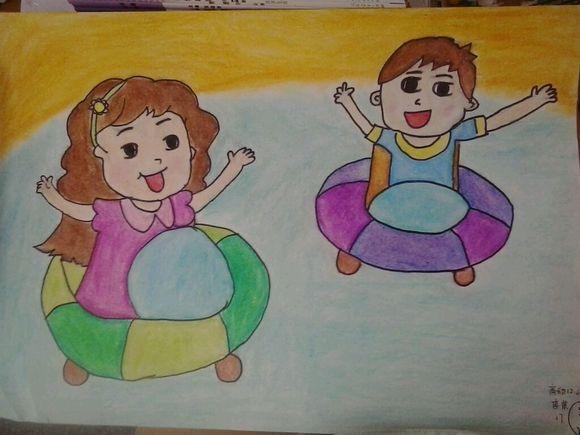 刚画完了美术作业 好吧 我承认我就是那种琴棋书画样样都不精通图片图片