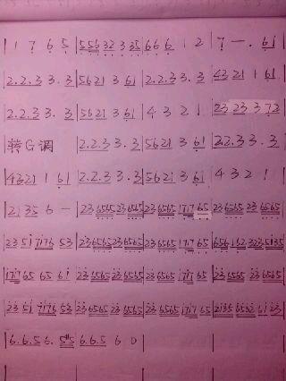 千本樱萨克斯谱图片