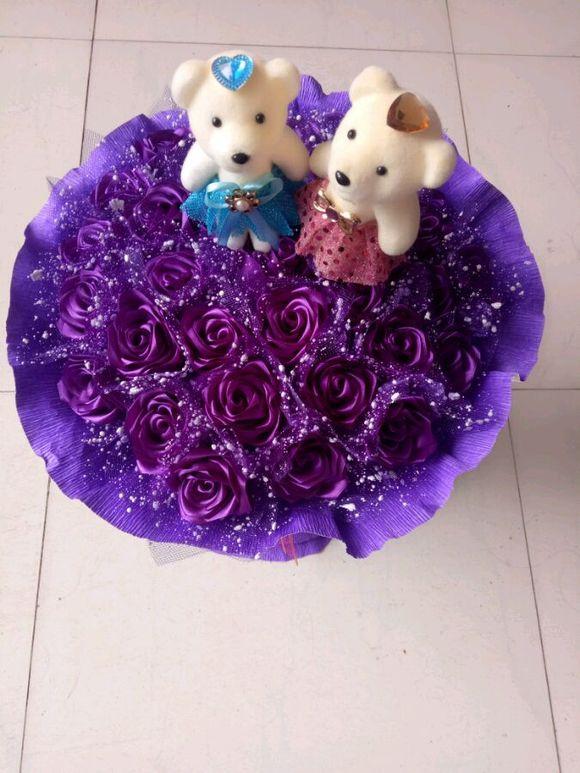 七夕节马上到了 需要丝带玫瑰花图片