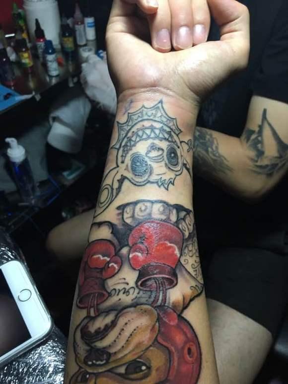 史迪仔纹身图案加英文图片