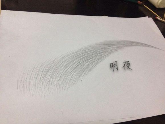初学眉毛素描的画法图片