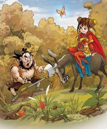 """""""秀秀不理他,拍了拍驴子继续赶路.图片"""