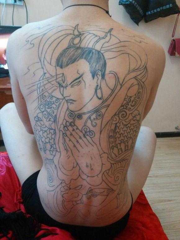 纹身二郎神图片展示图片