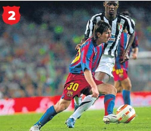 跳蚤在欧冠决赛中战胜过c罗领军的曼联,也曾率队6比2血洗伯纳乌.图片