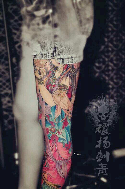 【五虎上将花腿纹身手稿高清】图片