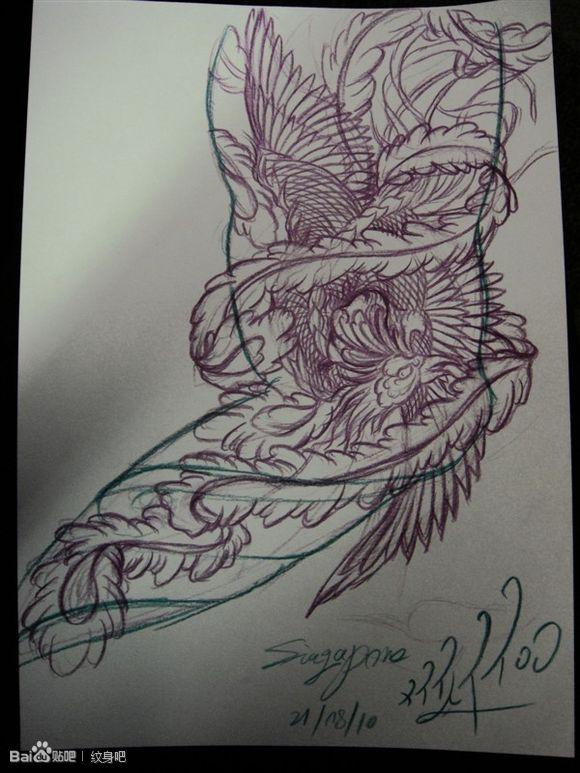 回复:《ぺ风繧ぺ——花臂,花腿,手稿纹身素材,,,,,,》图片