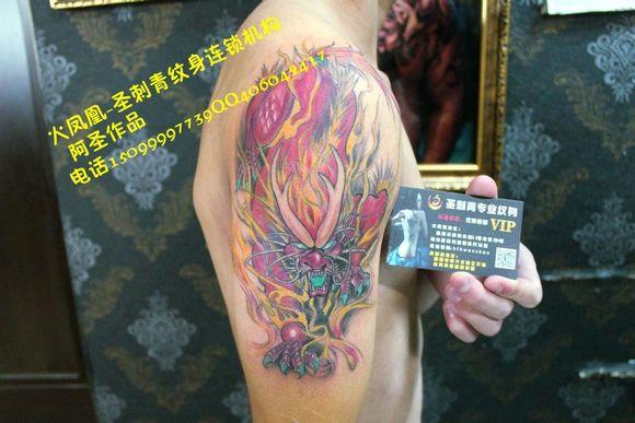 广州番禺市桥火凤凰-圣刺青纹身连锁机构qq406042417图片