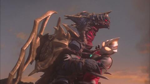 浩以「超越撒旦毕佐,打倒盖亚奥特曼的强力怪兽」的念头向红球祈愿后
