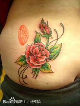 淮南纹身玫瑰花纹身手稿图片