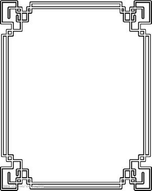 古风边框素材,古风唯美边框,手抄报古风边框素材