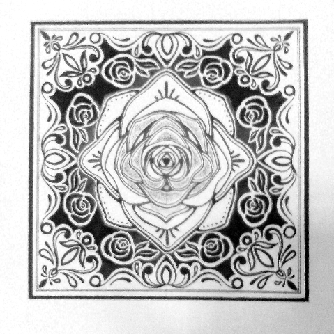 设计方巾纹样图片