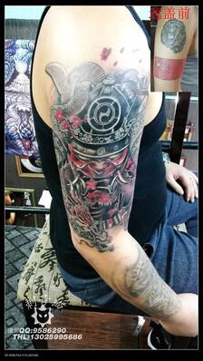 求个鬼武士包大臂的手稿【纹身吧】_百度贴吧图片