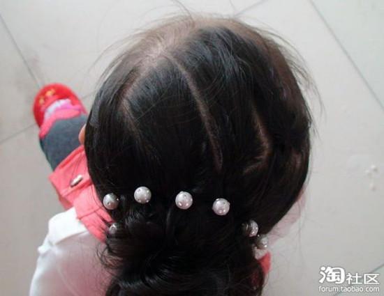 儿童盘发发型扎法 儿童盘头发步图片