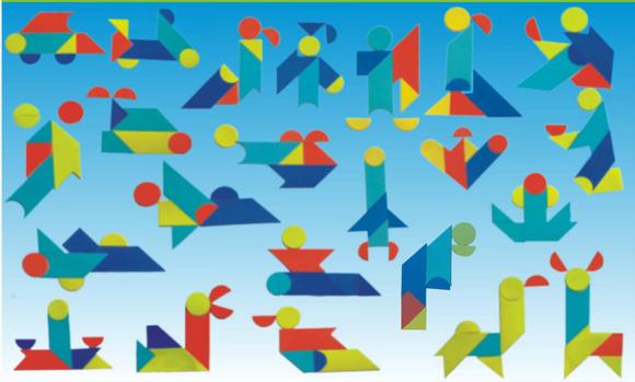 你可以用七巧板随意地拼出你自己设计的图样,但如果你想用七巧板拼出图片