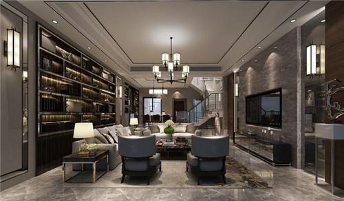 港式装修效果图一 港式住宅在设计上多以现代为主,选材上极为考究,图