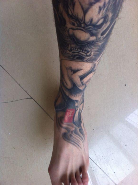 麒麟纹身_气的麒麟纹身图案