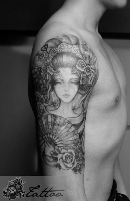 求一艺妓纹身图图片