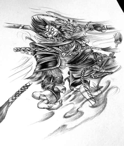 斗战神猴子纹身 斗战神佛手臂纹图片