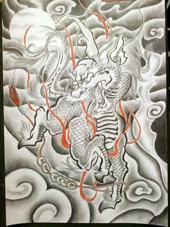 麒麟貔貅纹身刺青手稿-芜湖纹所未纹专业纹身店图片
