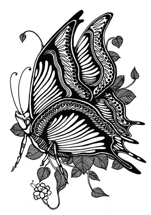 【高考美术】设计类考试素材——黑白装饰画图片