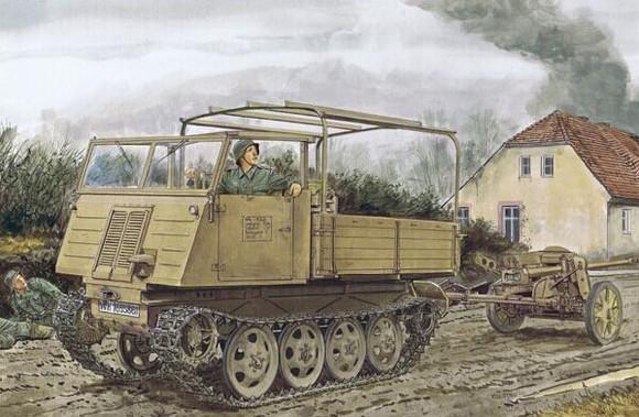 6684 德军rso履带式牵引车后期型和pak38反坦克炮图片