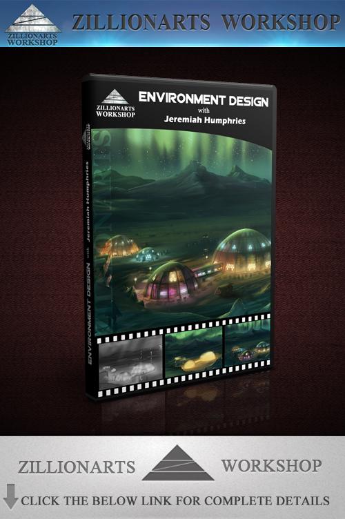 zillionarts - 环境设计绘画教程 - environment design图片
