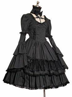 刚才吧友说可以用洛丽塔的裙子,试着找了一下果!然!有!不!错!的!图片
