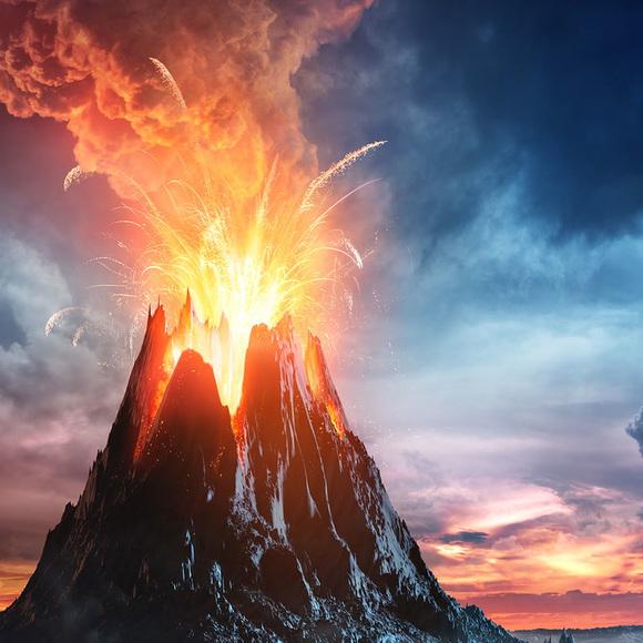 第三行起头三个都是属於自然灾害, 包括火山爆发, 海啸和