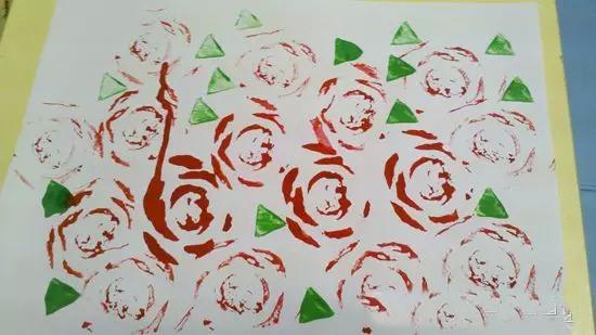 【创意手工】幼儿园创意作品之——蔬菜印画图片