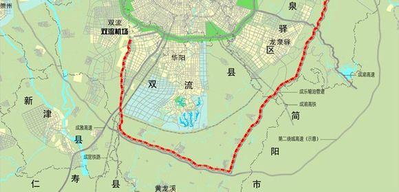 天府新区华阳片区一环 看样子,成都可能会学广州调整行政区划,合并图片