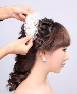新娘发型—步骤图片