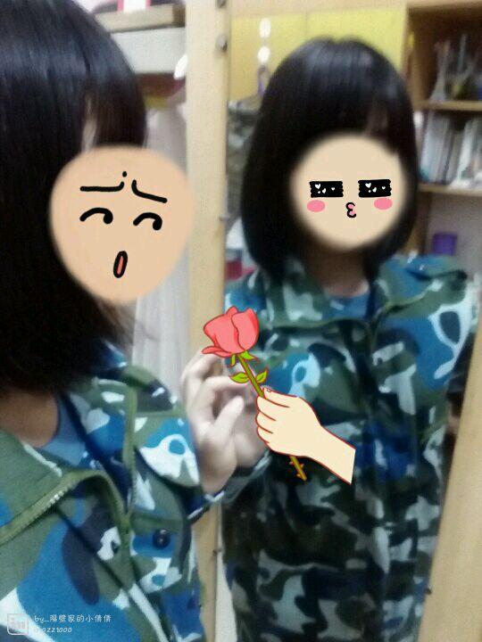关于女生军训剪头发