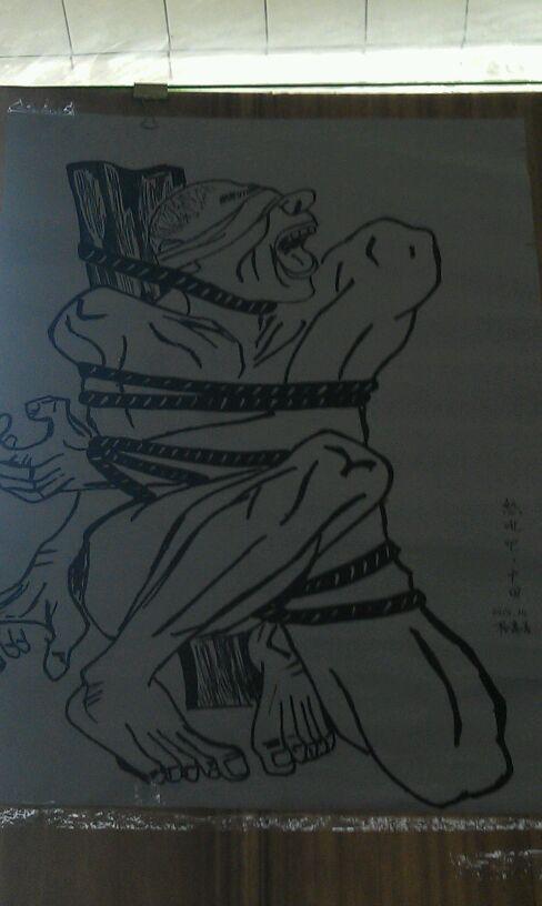x中学校园艺术节作品展( 楼主吐槽)图片