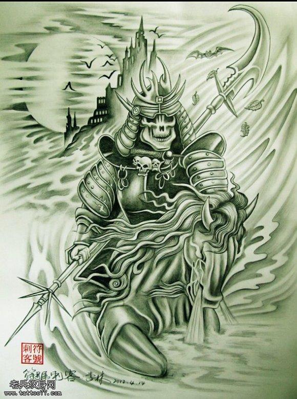 谁有鬼武士的一些纹身手稿图片