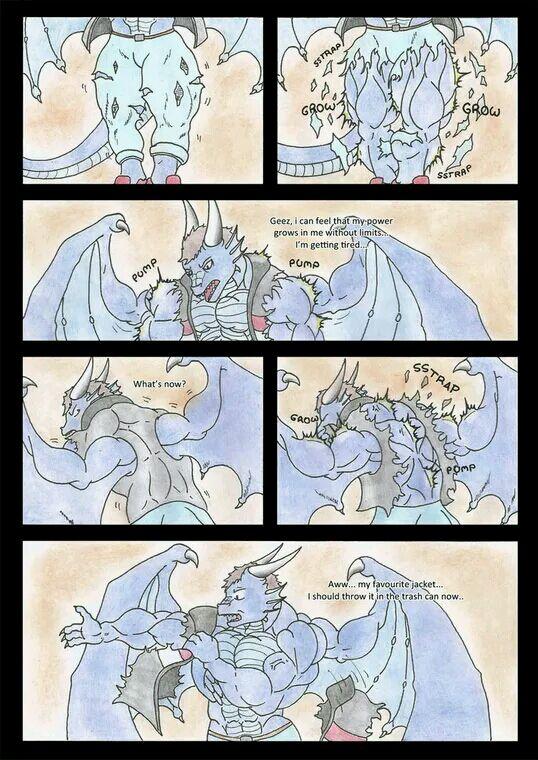 龙人的肌肉膨胀-失心兽人吧-狼兽人x龙人漫画图片