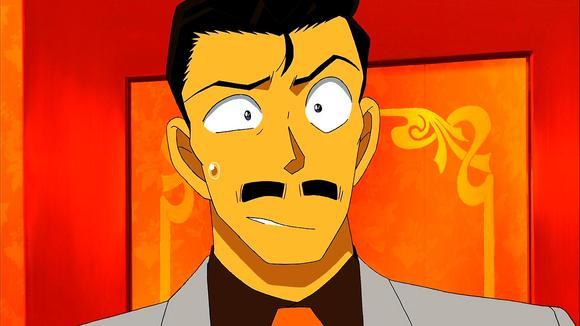 小五郎接吻秋吉美波子时的眼睛表情一大一小嘴巴都歪了微信看到动画表情图片