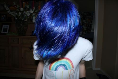 蓝色头发女生头像 心里话累积多