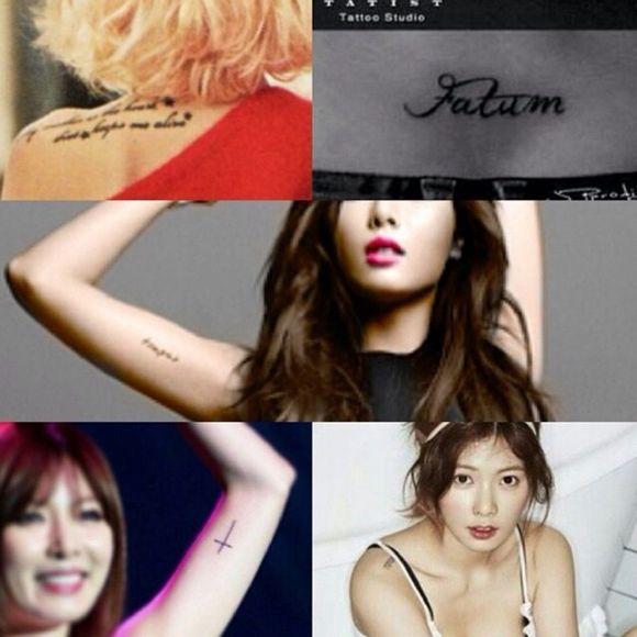 hyuna﹏140220°图图┃金泫雅的new纹身图片