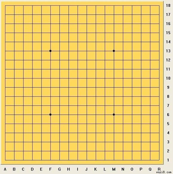 新设计的18×18五子棋专用棋盘图片
