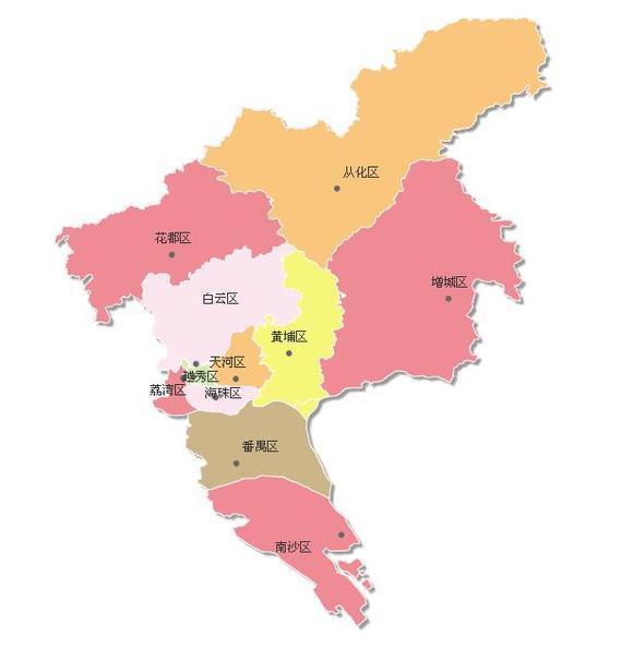 全国主要城市行政区划信息图片