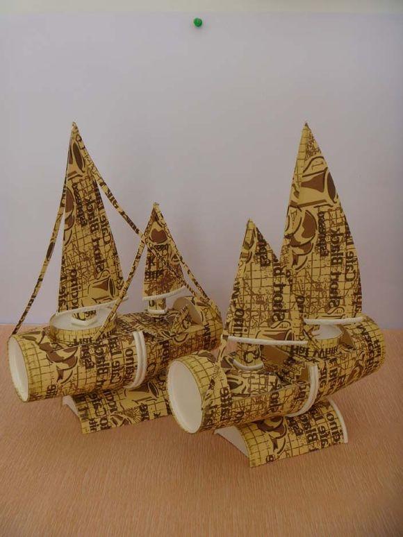 用纸杯做的帆船【手工吧】_百度贴吧图片